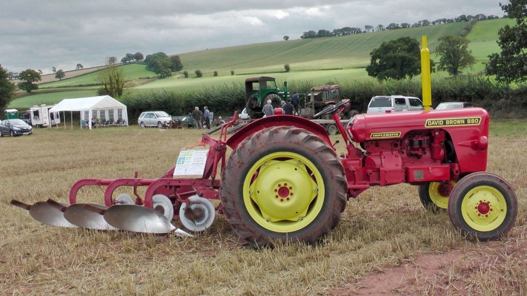 David Brown 880 'Triplematic' with plough