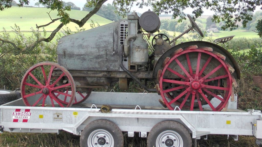 Vintage Tractor on trailer