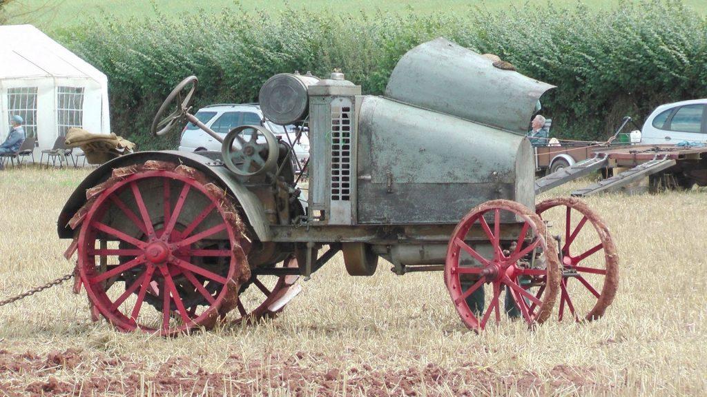 Steel-wheel vintage tractor