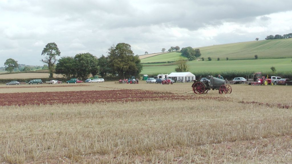 Photo of the working field and marquee