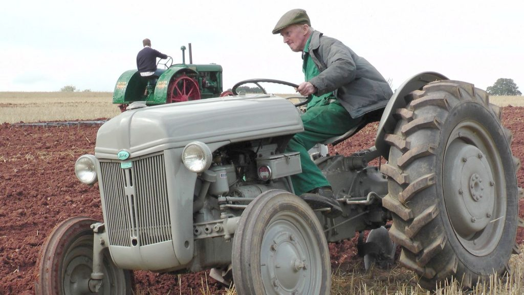 'Fergie' tractor ploughing