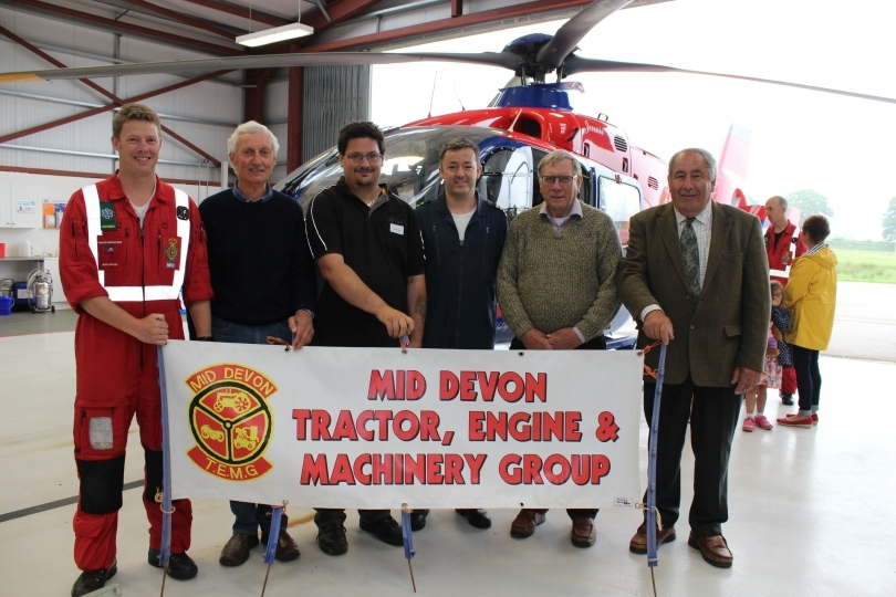 At the Devon Air Ambulance base